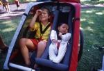 Dvoumístné vozík s vložkou pro děti do deseti měsíců můžete klidně používat do pěti let dítěte.