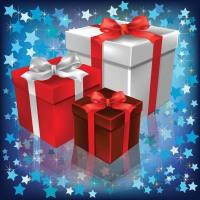 ilustrace: vánoční dárky