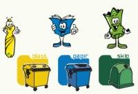 ilustrace: tříděný odpad