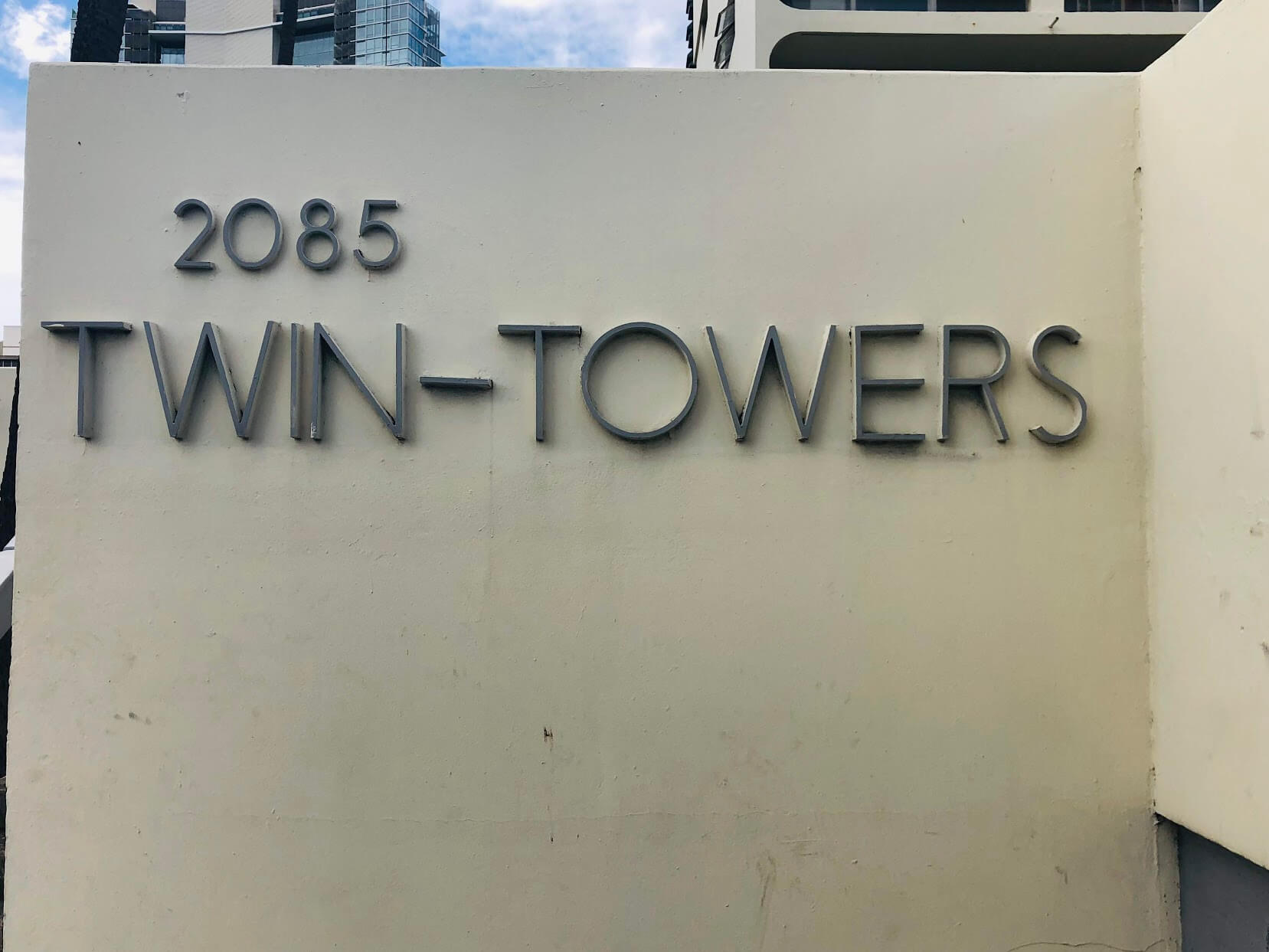 Twin Towersの看板