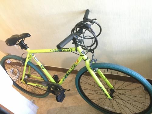 自転車貸します。