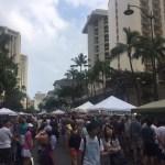 2017/2/18(土)にワイキキで「Lokahi Festival Waikiki」が開催。フードトラックやクラフトショップが楽しました。