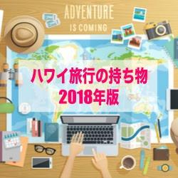 ハワイ旅行の持ち物2018年版