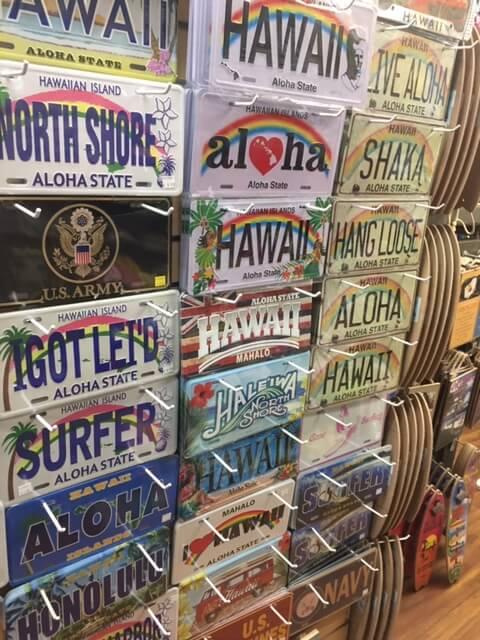 ハワイのブリキ看板