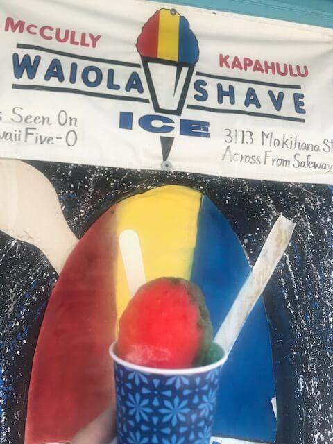 マッカリーのかき氷屋さん「ワイオラ シェイブアイス(WAIOLA SHAVE ICE)」