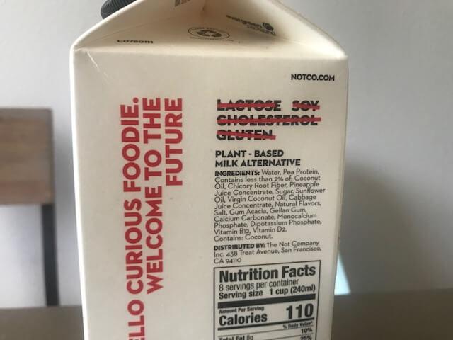 牛乳だけど牛乳じゃないプランツベースのNOT MILK、ホールフーズで販売中