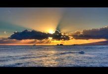 Sonnenuntergang Hawaii Oahu USA – Ala Moana Strand Sonnenuntergang