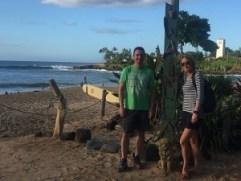 Waimea Strand - deutsche Oahu Inselrundfahrt