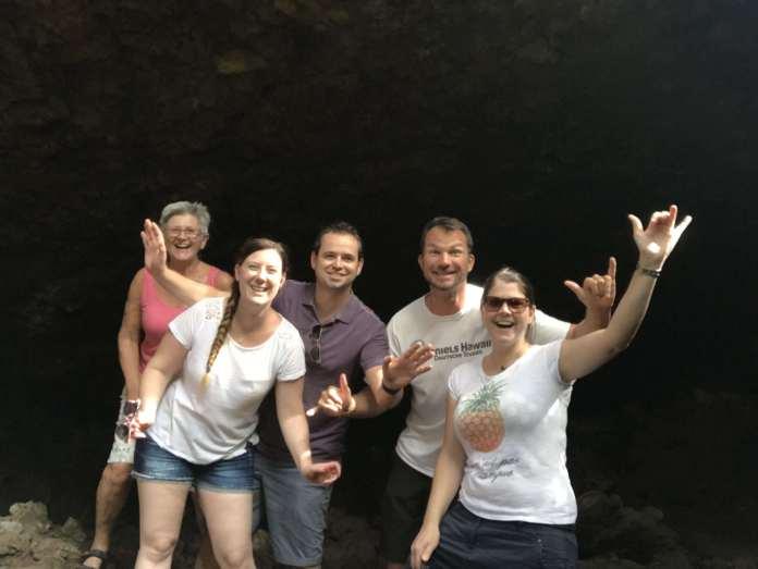 Lava Hoehle auf Maui an der Road to Hana