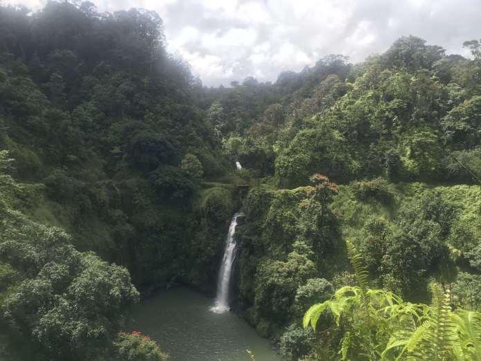 Wasserfall auf der deutschen Tour auf Maui