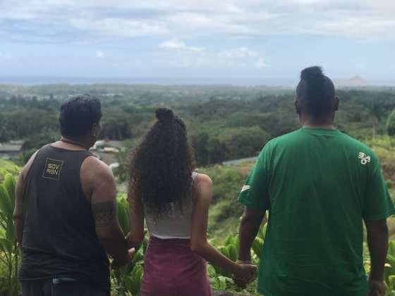 Blick auf das Land der Nation of Hawaii