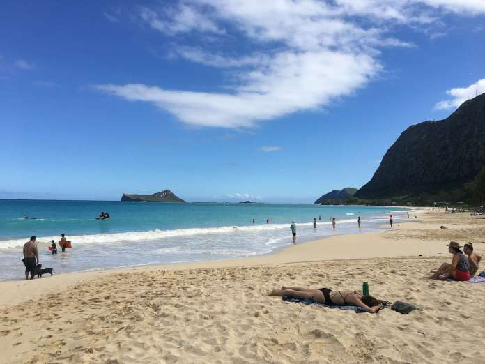 Langer Strand in Hawaii