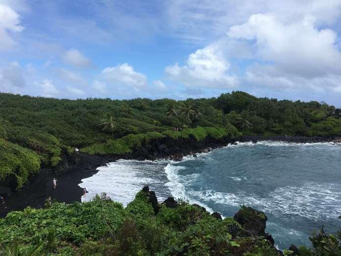 Pa'iloa Beach- Der schwarze Strand auf Maui