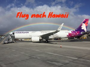 Flug nach Hawaii