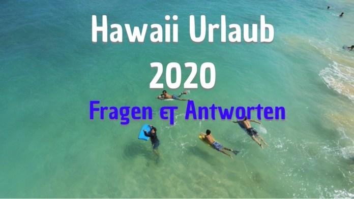 Hawaii Urlaub 2020