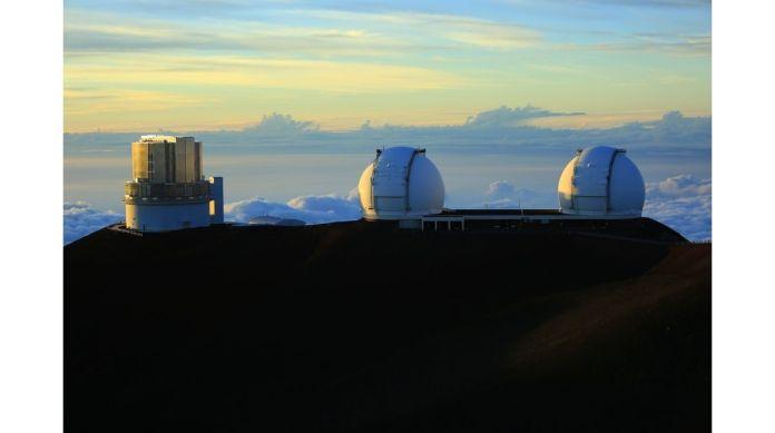 Das Observatorium auf dem Berg Mauna Kea