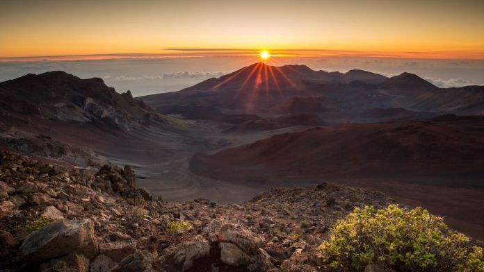 Sonnenaufgang am Haleakala-Krater