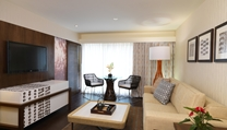 Relax by watching the large screen TV, playing the PS3 or catch up on the day's activities in your suite.