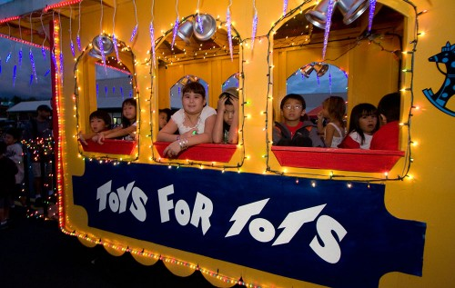 The Toys for Tots train.