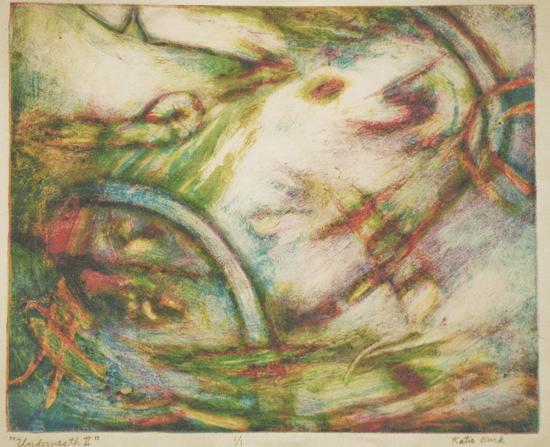 K. Burk - Underneath II (Photo courtesy Donkey Mill Art Center)