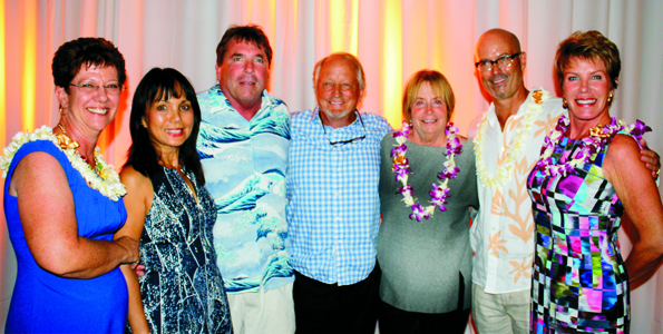 (From left) Donna Whitaker, HIHS Executive Director, Vivian Dixon and John Chapple, John and Anne Ryan, Scott Dodd and Barbara Kildow, co-chais capital campaign committee. (Photo courtesy of HIHS)