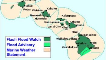 Flood Advisory issued for South Kohala and North Kona