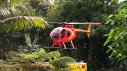 The Hawaii County Fire Department Chopper One airlifted divers in and out of the Wailuku River Saturday morning (March 31) Crews spent a second day searching for a missing swimmer. Photography by Baron Sekiya   Hawaii 24/7