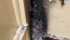 Ainaola Park women's restroom arson damage.