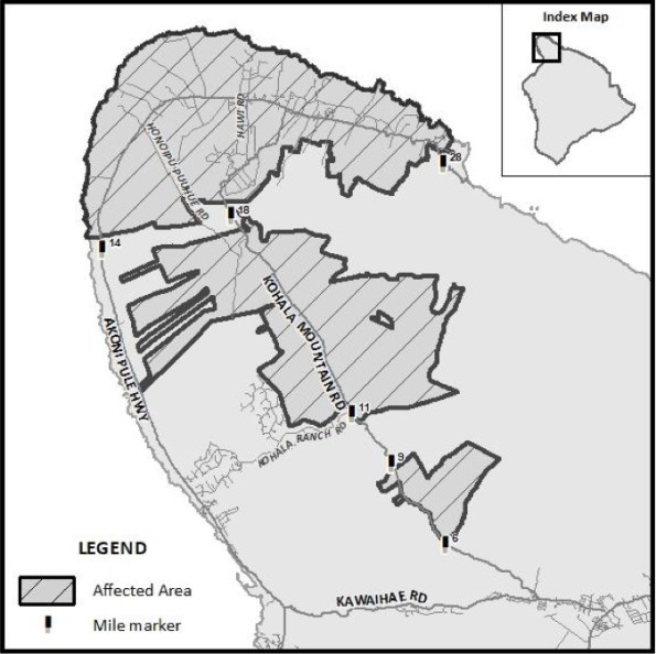 HELCO Power Outage in Kohala, October 24-25, 2019