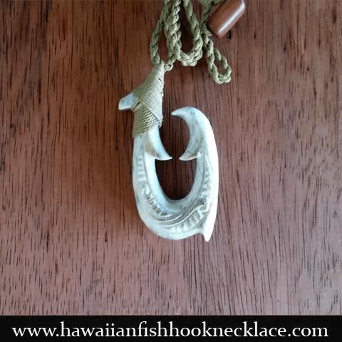 whale bone hook necklace