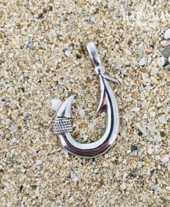 hawaiian silver opal single barb fish hook