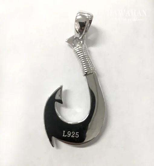 opal fish hook pendant