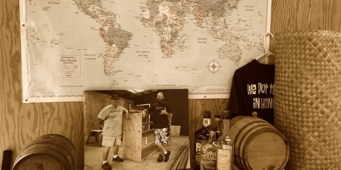 Honokaʻa Chocolate Co., world map, photo, t-shirt, alcohol, woven mat