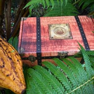 Hawaiʻi Cacao Express Subscription Box, cacao pod, hapuʻu fern