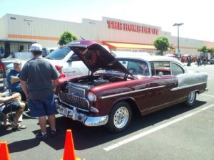Paulos' 55 Chevy on the road with a new 383 cu.in. stroker