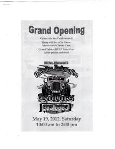 Paradise Automotive Kolors Grand Opening Announcement