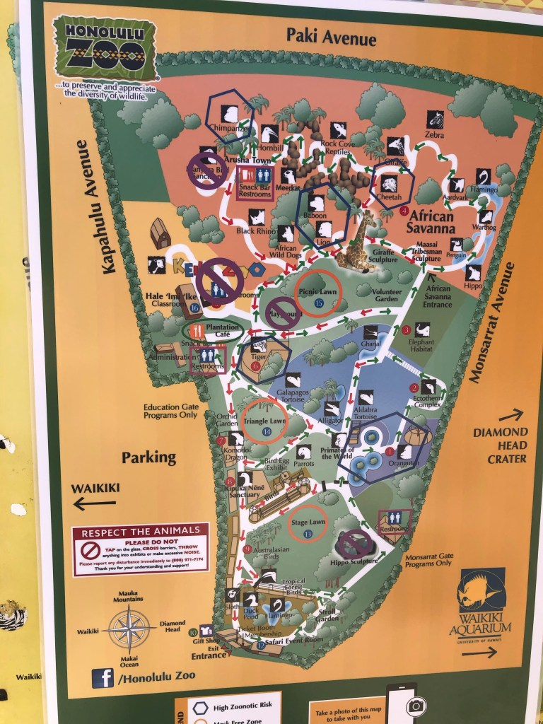 Honolulu Zoo Pandemic Map