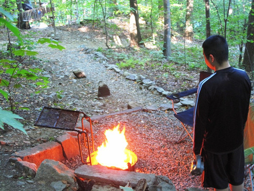 Making fires in the Fire Pit