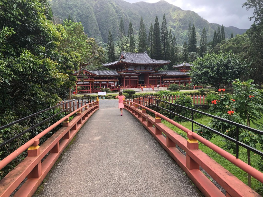 Bridge to Byodo-In Temple