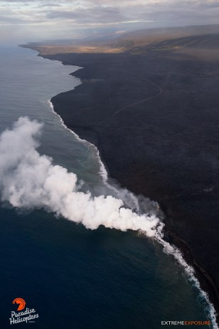 The Kalapana coastline is the most dynamic on the island, as lava from Kilauea creates the newest land on the planet.