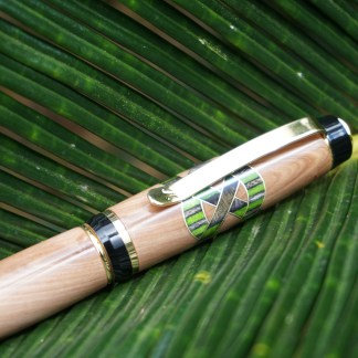 Celtic Wood Pen Metallic Inlay
