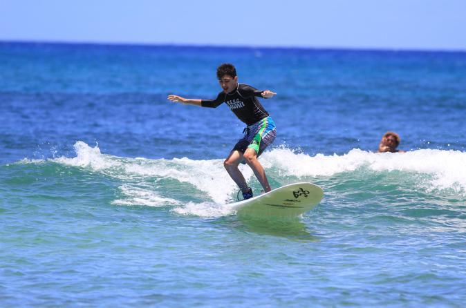 North Shore Surfing Lesson at Haleiwa Beach Park on Oahu