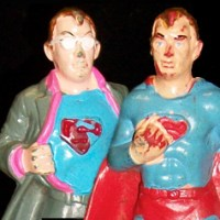 Chemtoy Superman and Clark Kent figures (1974)