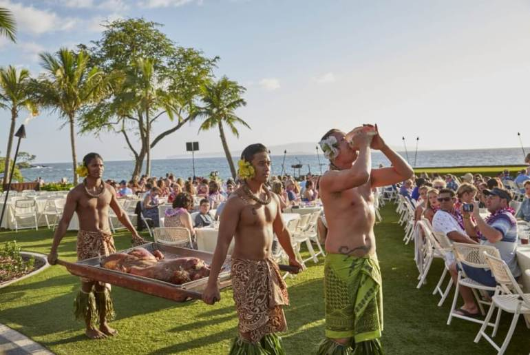 The Best Luau in Maui featured by top Hawaii travel blog, Hawaii Travel with Kids: Head to the Grand Wailea Luau for a fun kid-friendly thing to do on Maui