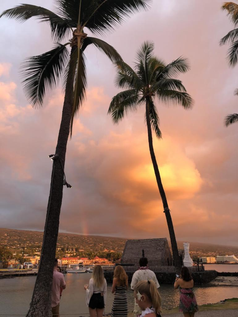Everything you Need to Know About Traveling to Hawaii Big Island with Kids featured by top Hawaii travel blog, Hawaii Travel with Kids | This rainbow sunset is just one reason to visit the Big Island with kids in Hawaii