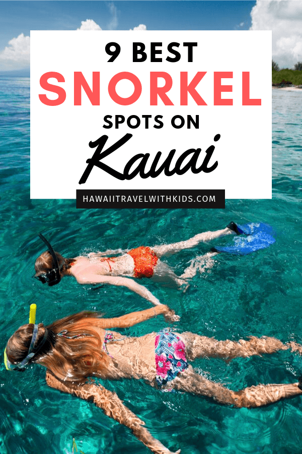Top 9 Places for the Best Snorkeling on Kauai featured by top Hawaii travel blog, Hawaii Travel with Kids: Want to snorkel on Kauai? Here are the best Kauai snorkeing spots on the island for all ages and abilities. There are a few secret Kauai snorkel locations plus one that's super kid-friendly!