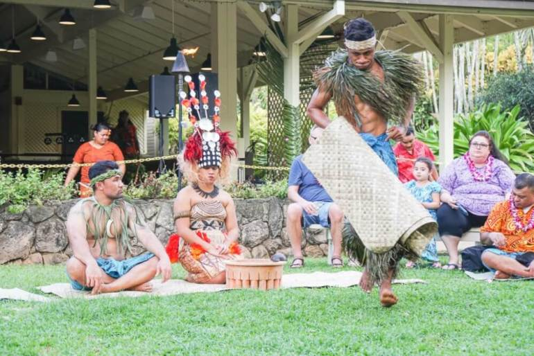 50 Best Places to Visit in Hawaii with your Family featured by top Hawaii blog, Hawaii Travel with Kids: Toa Luau on the North Shore of Oahu