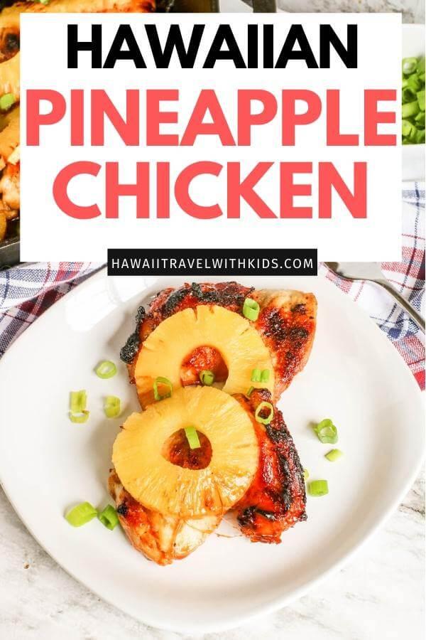 Hawaiian Skillet BBQ Pineapple Chicken Recipe featured by top Hawaii blog, Hawaii Travel with Kids.