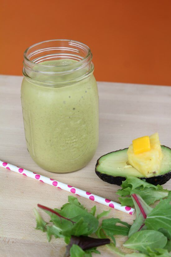 Hawaiian Tropical Smoothie Recipes to Make at Home featured by top Hawaii blog, Hawaii Travel with Kids: Healthy Tropical Avocado Smoothie
