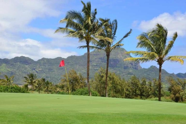 Top 25 Things to do in Poipu, Kauai featured by top Hawaii blog, Hawaii Travel with Kids: Poipu Bay golf course on Kauai